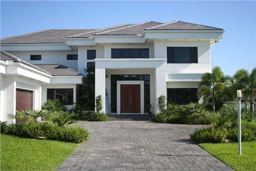 Contemporary Luxury Home Plan - Florida Style