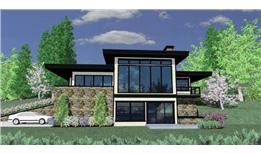 Modern Style home for sloping lot.