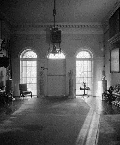 View of Monticell's Entrance Hall, looking east.