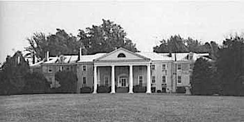 James Madison's Montpelier when the DuPont family owned it in 1975