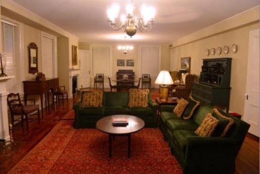 Basement recreation room in UGA President's House