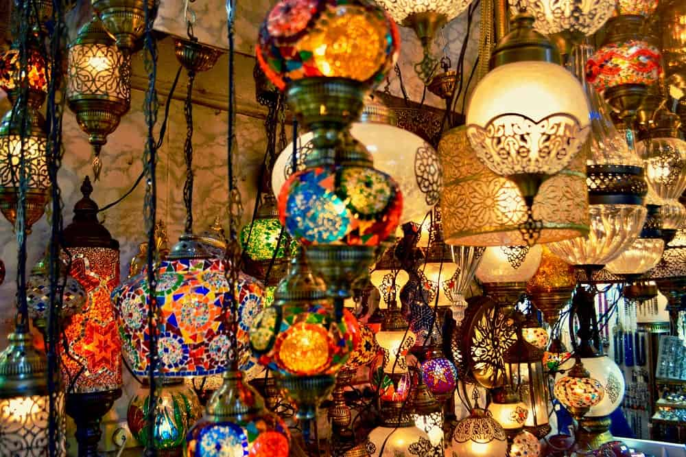Moroccan and Turkish themed light fixtures