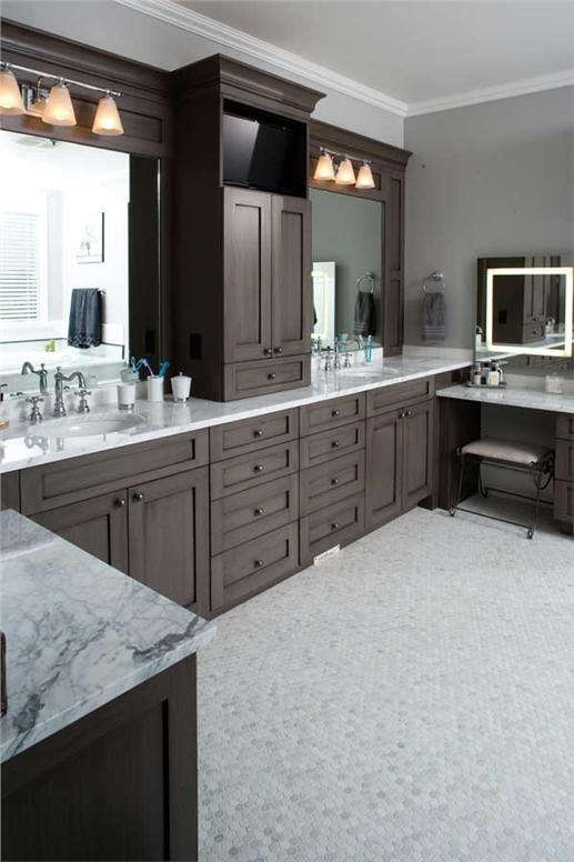 Out with the old and in with the new in bathroom designs for Luxury master bathroom floor plans
