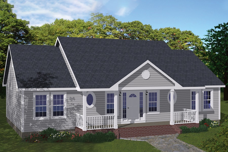 3-Bedroom, 1400 Sq Ft Affordable Starter House Plan #200-1060