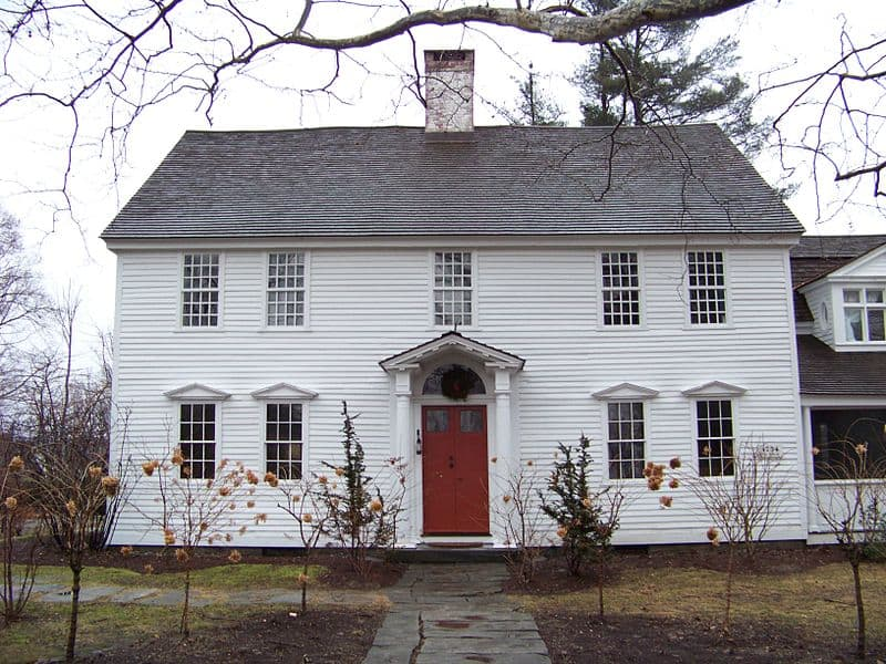 Oliver Wolcott House in Connecticut - Classic Colonial home design.