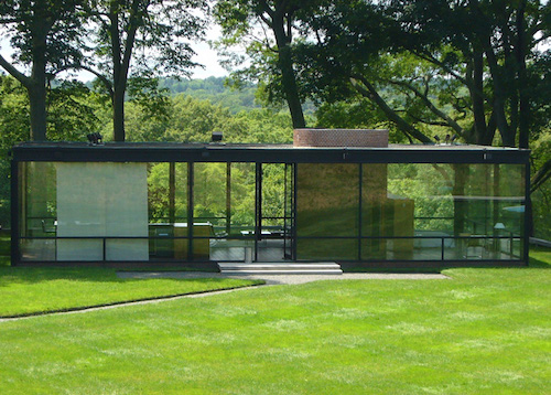 Philip Johnson's design, called the Glass House