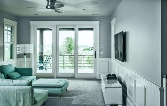 Retreat/getaway corner in the sitting room of a master bedroom suite