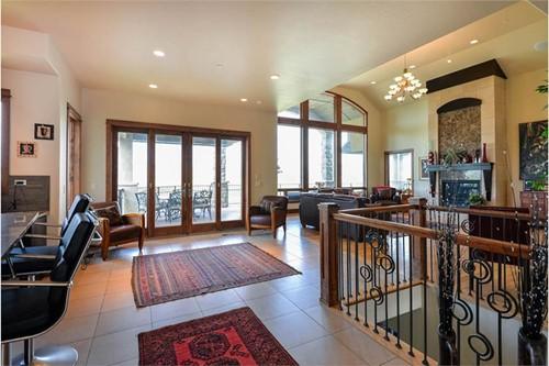 Open floor plan Great Room as seen from kitchen area