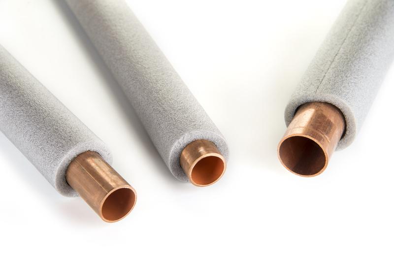 Copper tubing with foam insulation encasing it