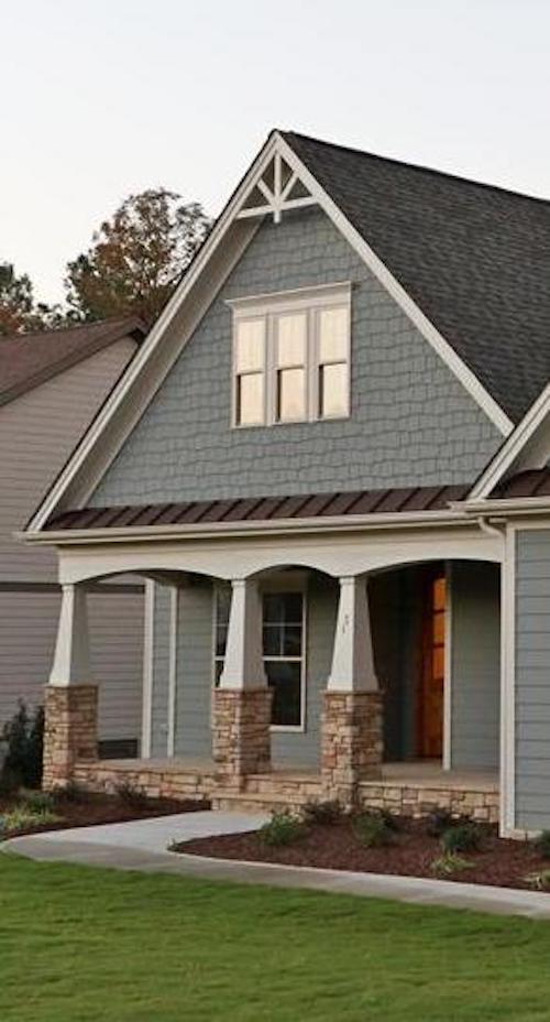 Porch on House Plan # 104-1064