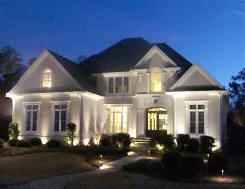 Your guide to smart outdoor lighting for your home landscape for 2 story luxury house plans