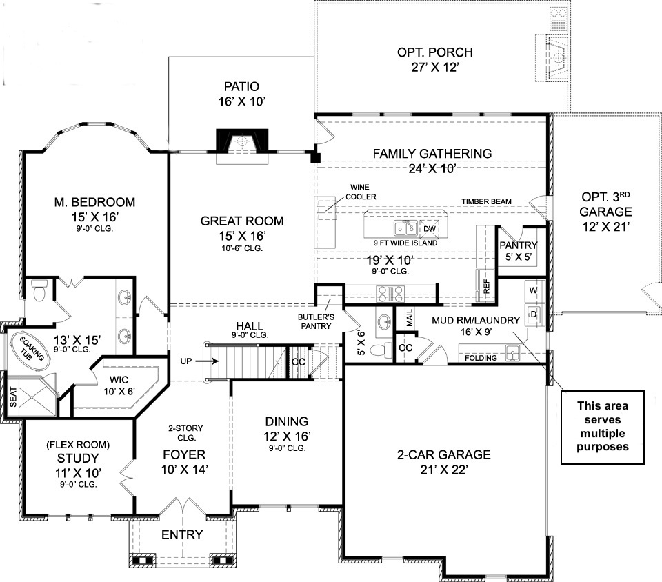 Floor plan for house plan #106-1309