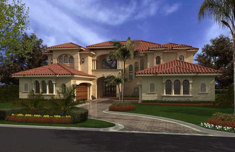 Mediterranean style home over 5000 square feet that gives a tropical vibe