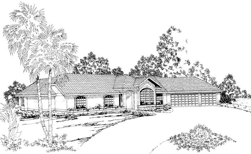 Ranch style house plan #108-1356