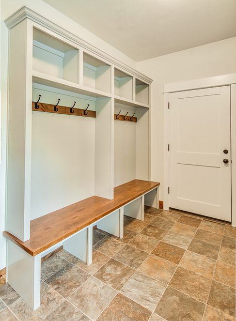 Mudroom area in house plan #108-1794 that can be adapted to pet living space