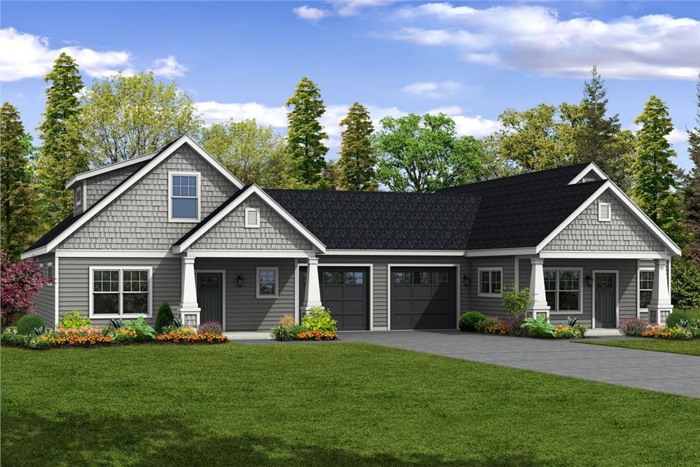 Duplex House Plan #108-1852
