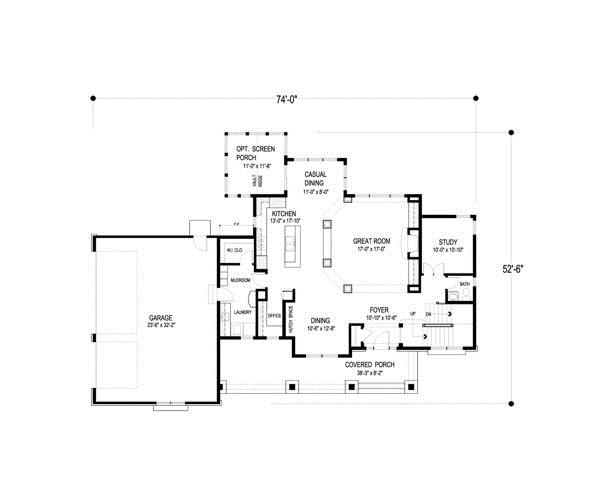 109-1191 house plan first floor elevation
