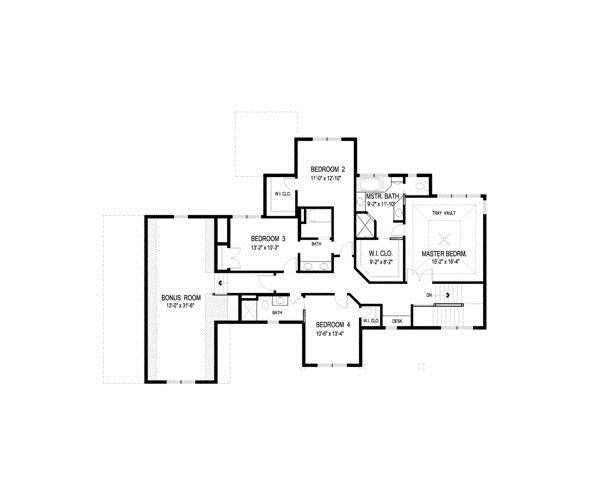 109-1191 home plan second level