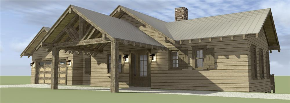 Front of Country house plan #116-1074 on down site