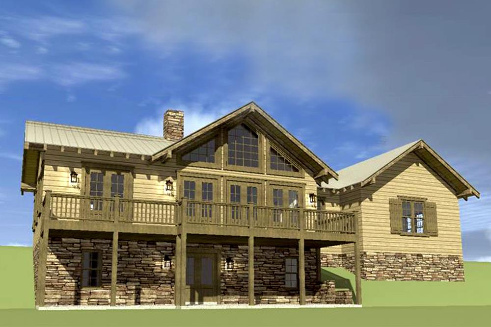 3-bedroom Country house plan #116-1074 on down site