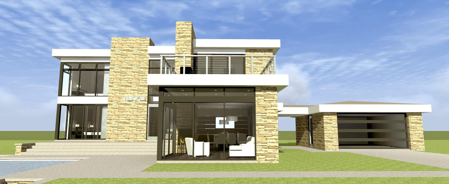 Retro-Modern, 3-bedroom house plan