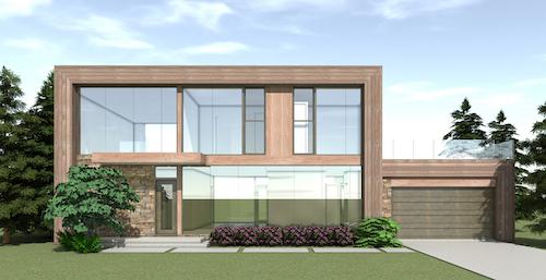 4-bedroom 2.5-bath home embraces Johnson's mid-century ideas