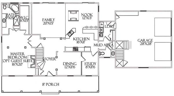 Floor plan for first level