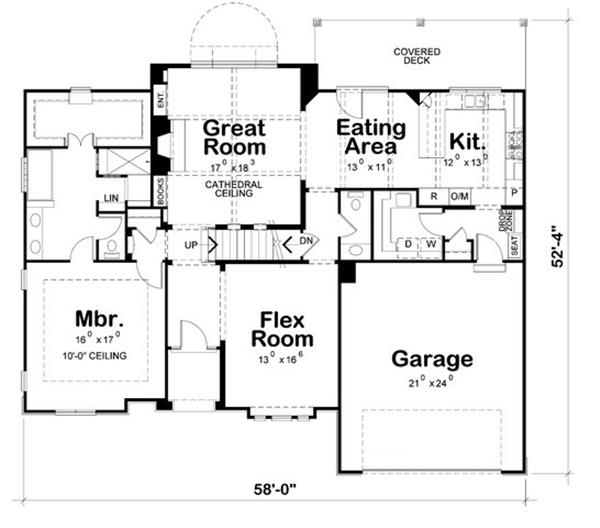 Floor plans for this Craftsman home (120-2230)