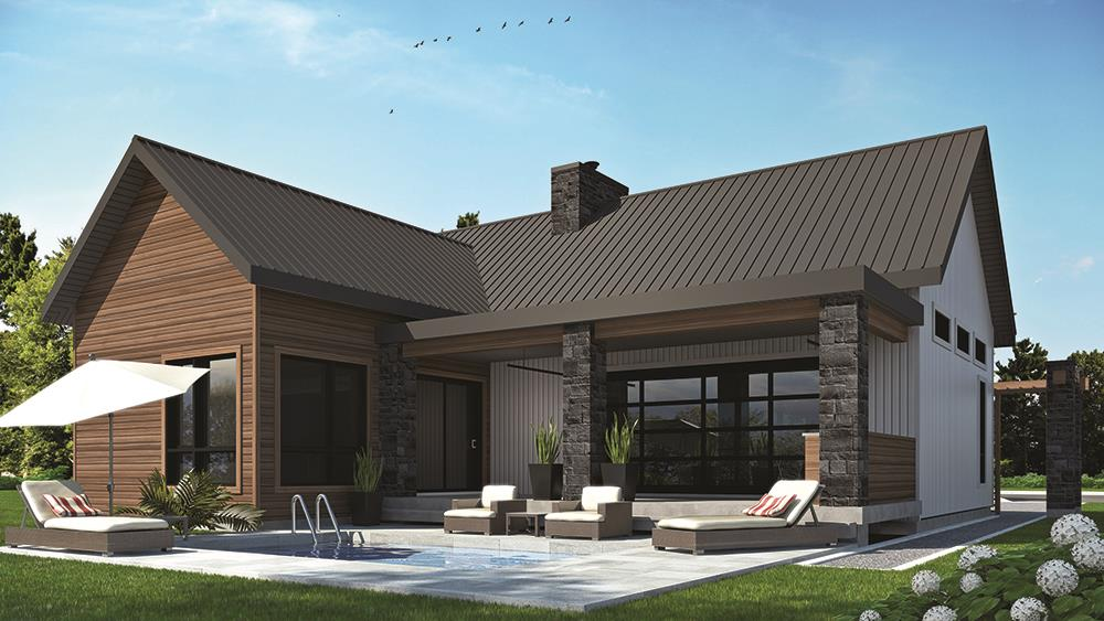 Country-style 1,212-sq.-ft. House Plan #126-1836