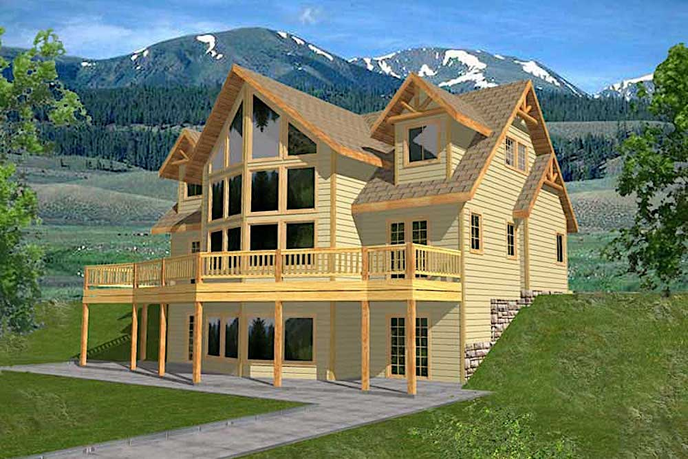 Spectacular Vacation style house plan #132-1313