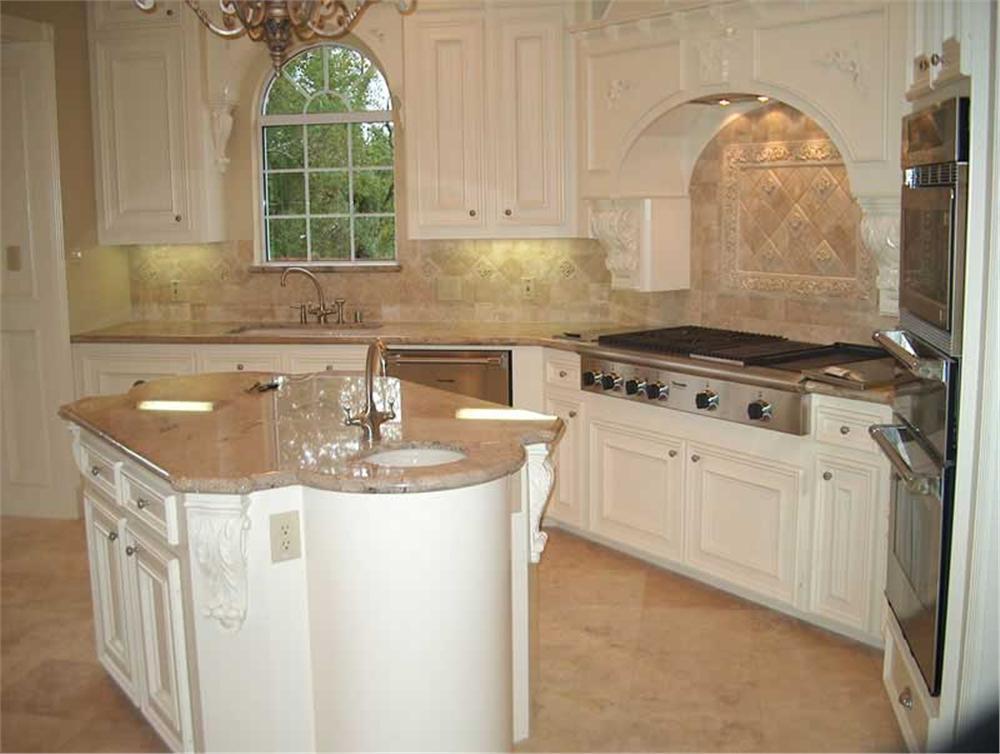 European style white kitchen in House Plan #134-1326