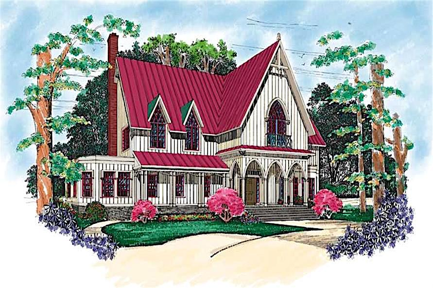 Victorian style home in the Carpenter Gothic style