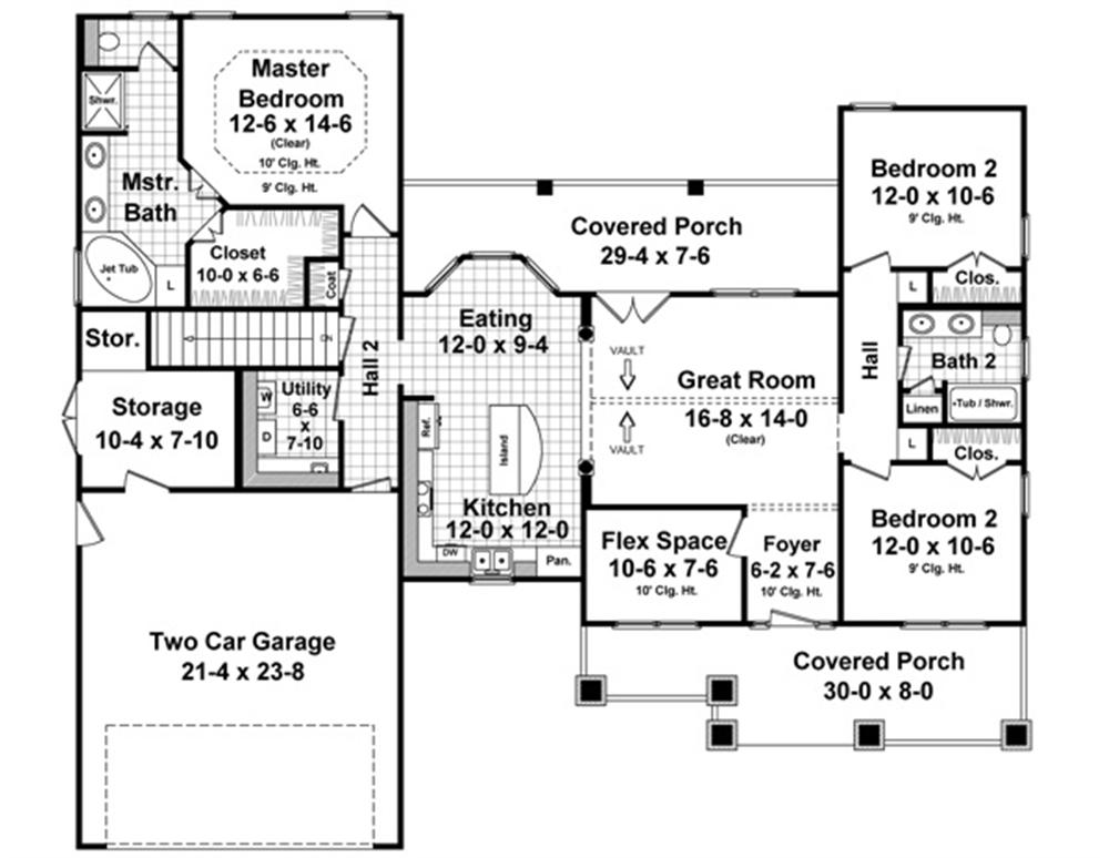 10 features to look for in house plans 1500 2000 square feet for Kitchen in front of house plans