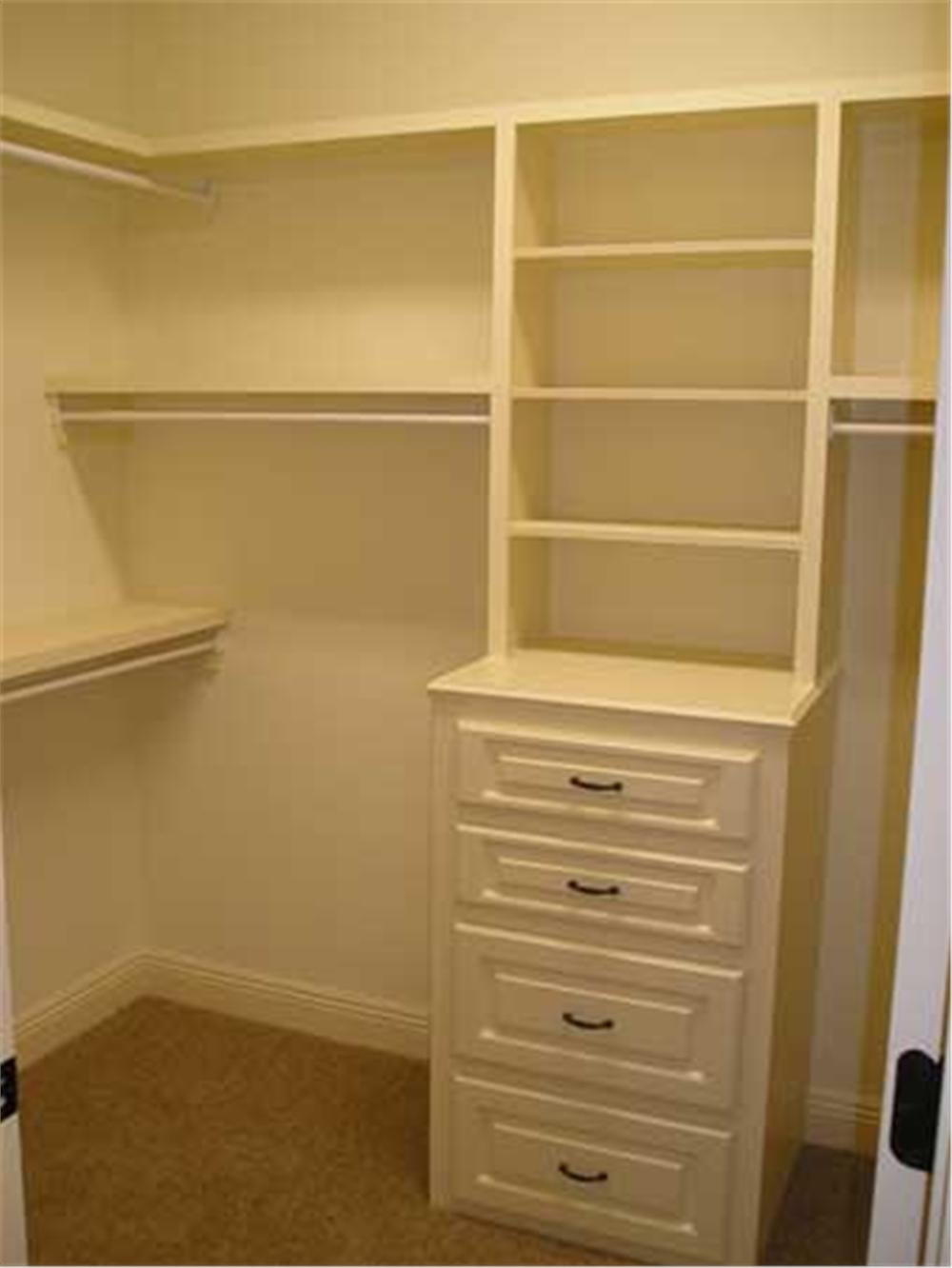 Small house plan home plan 142 - 1 Install Extra Shelves