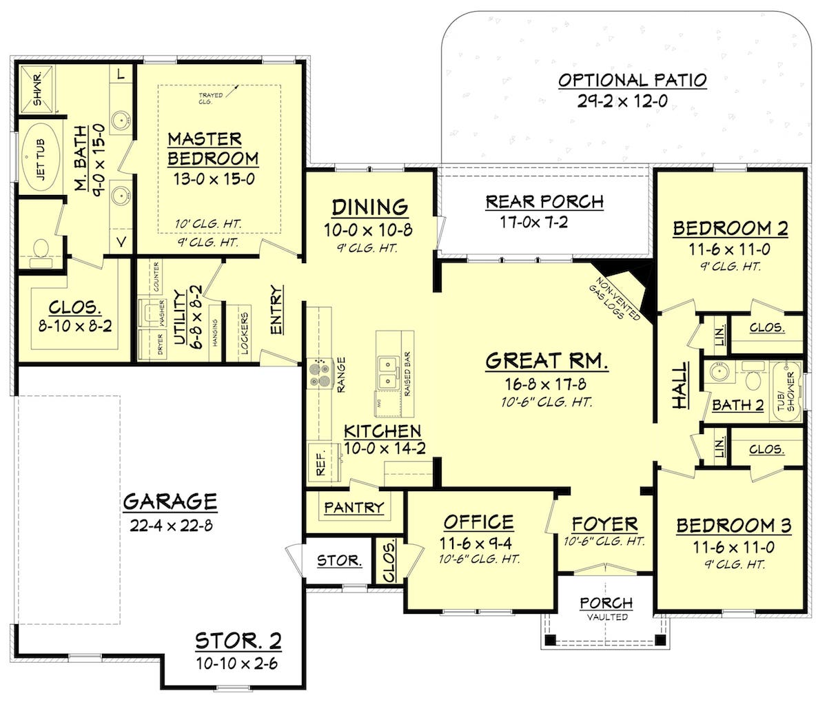 Floor plans of house plan #142-1075