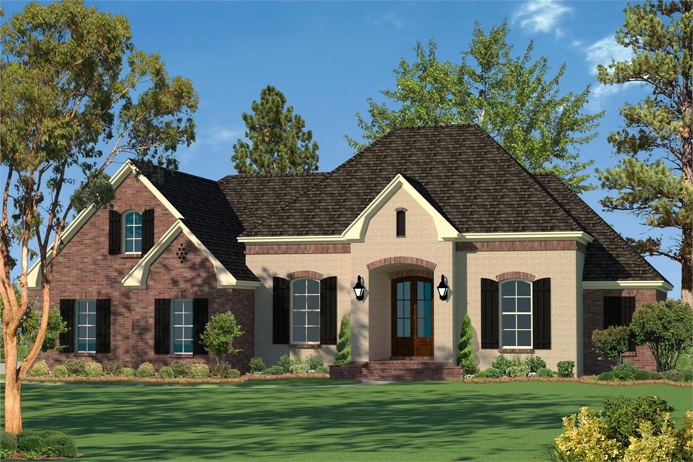 House Plan #142-1094 with slab foundation