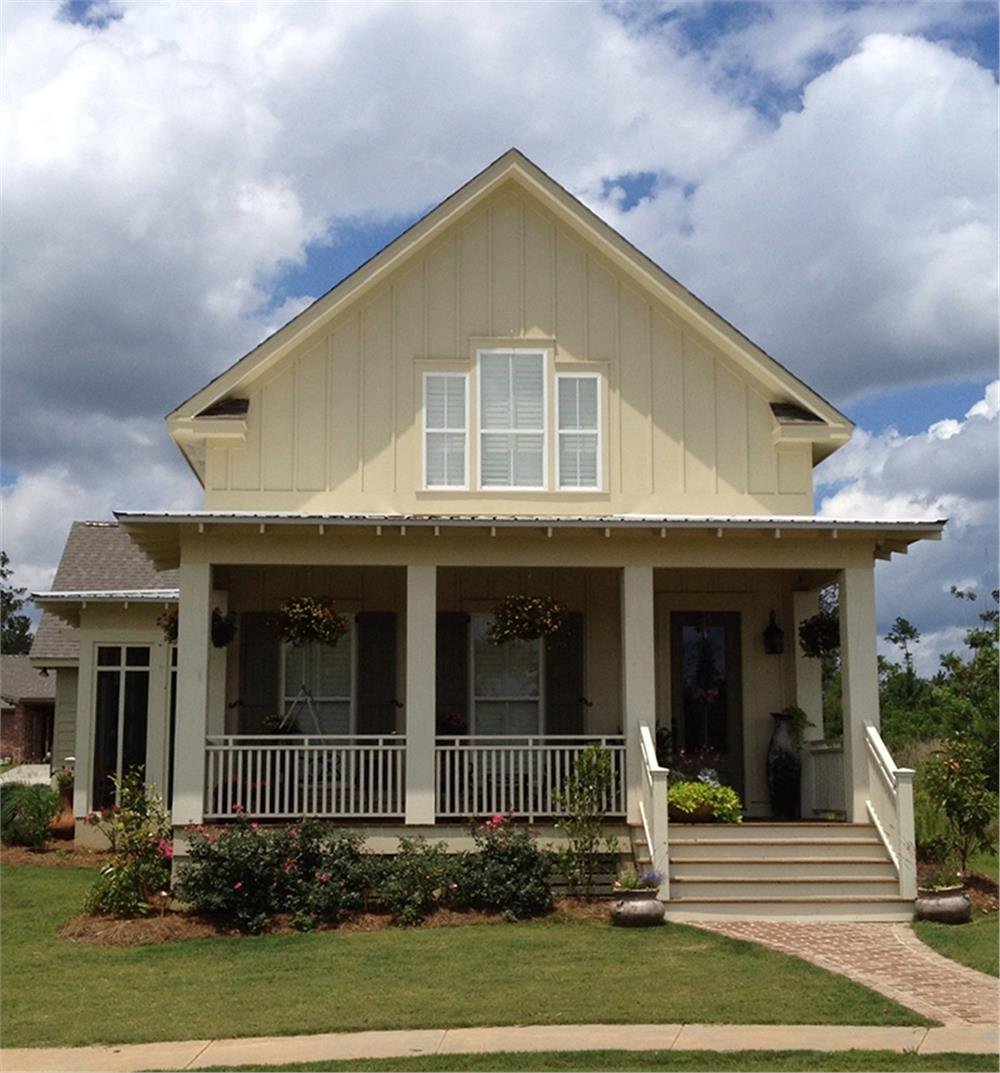 Craftsman style home with large front covered porch.