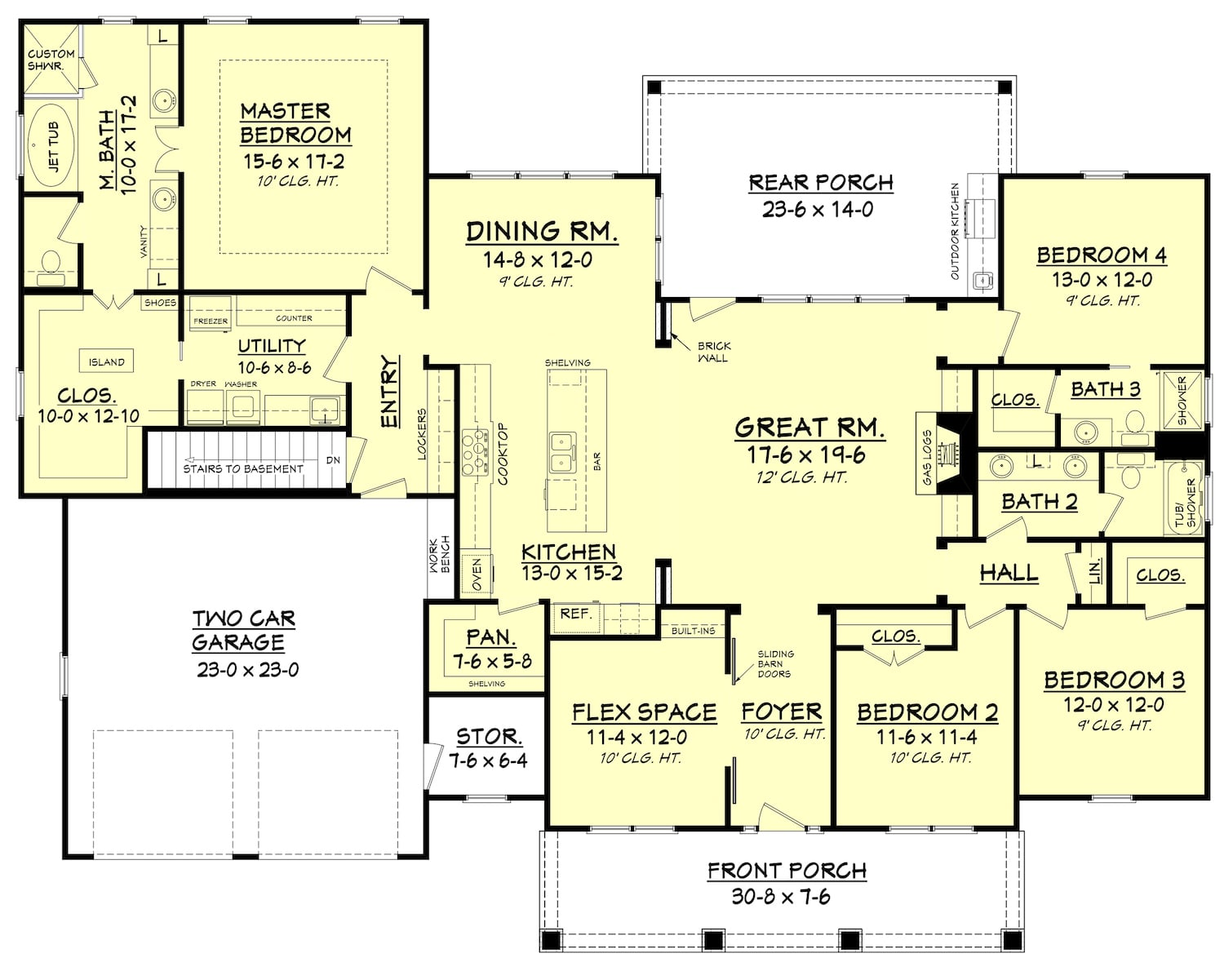 Floor plan for house plan #142-1102