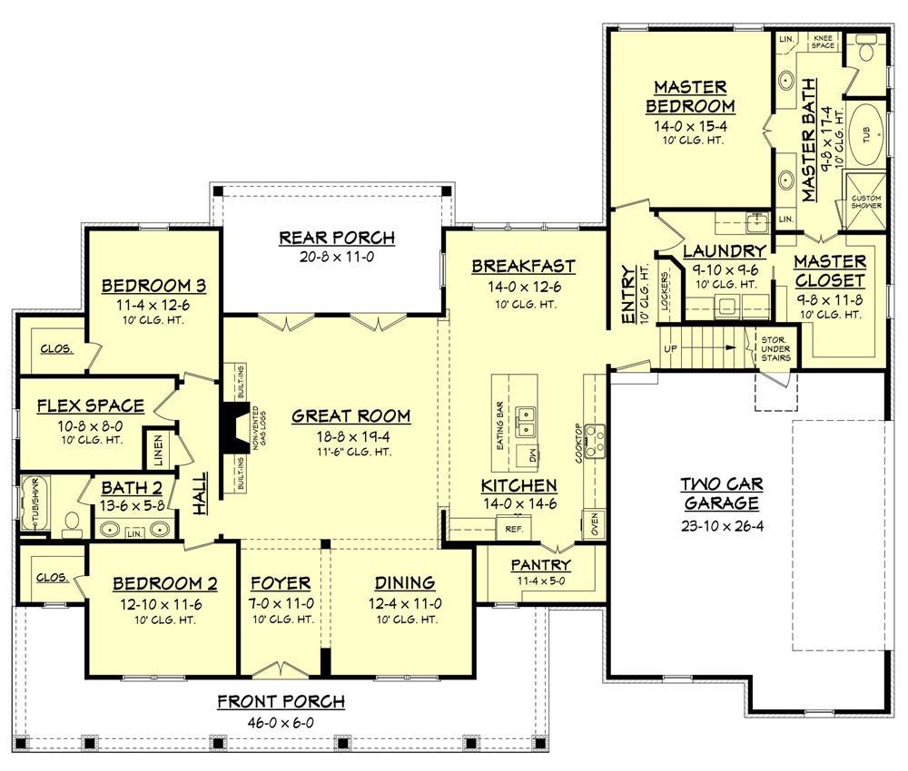 Floor plan for house plan #142-1166
