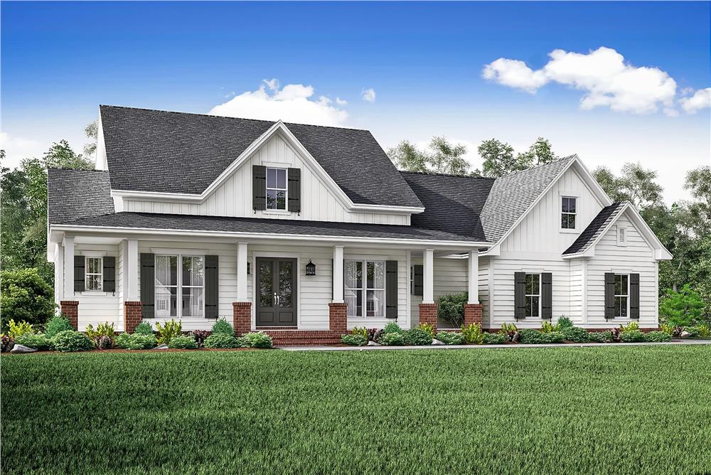 Country ranch house plan #142-1166