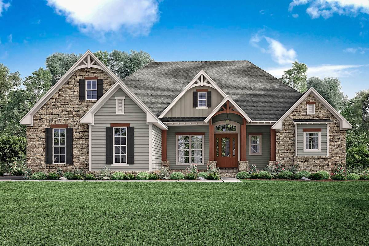 3-bedroom, 2.5-bath country house plan #142-1168