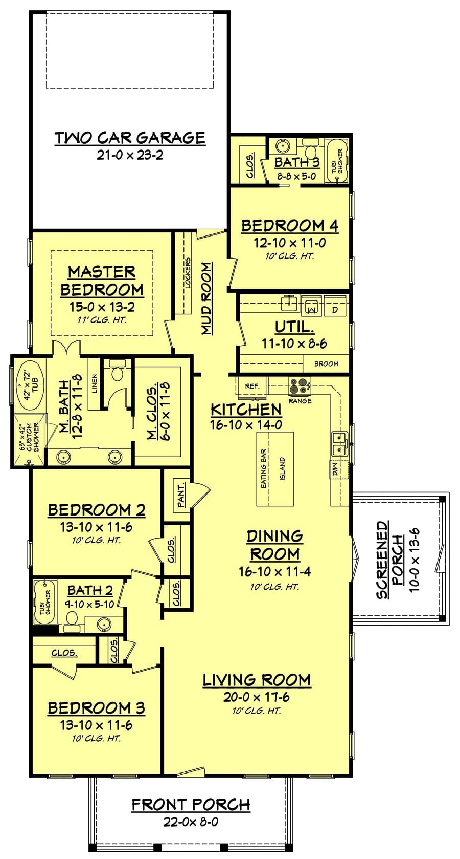 Floor plan for house plan #142-1193