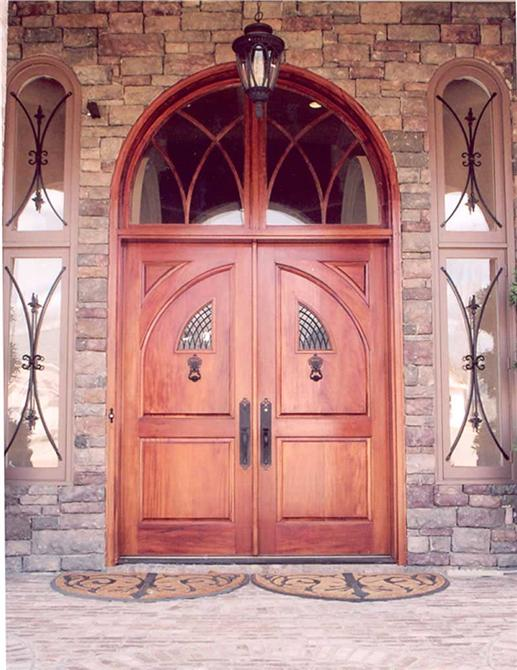 Attractive and welcoming front door has positive chi.