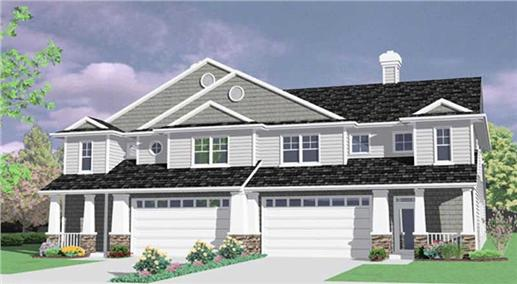 149-1423 townhouse house plan