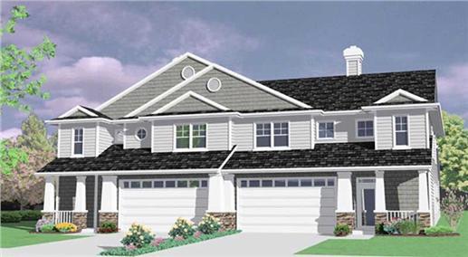 149-1423 townhouse house plan