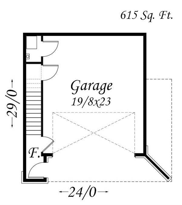 Garage floor plan - garage main floor