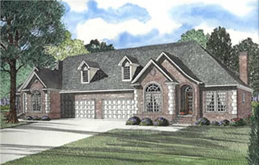 153-1296 Duplex house plan