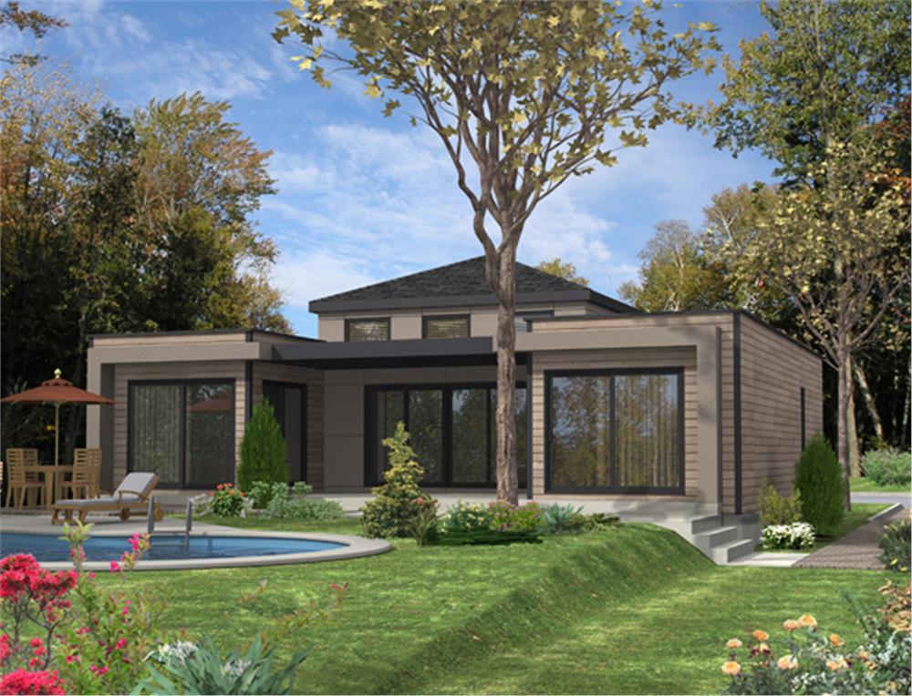 2-bedroom, 1-bath home plan #158-1281 reminiscent of Verne Lars Solberg-designed house