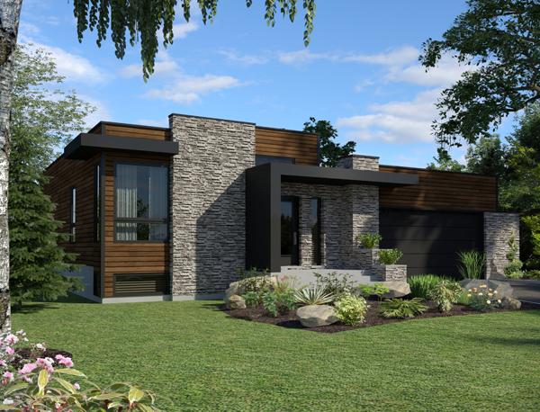 Modern style house plan #158-1290