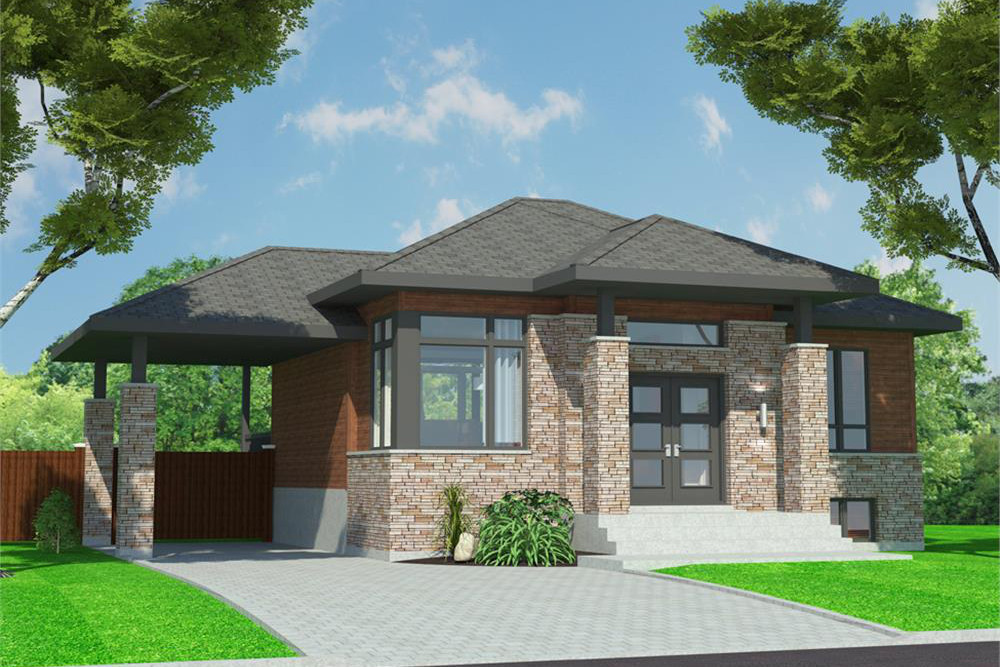 Transitional style bungalow house plan #158-1299